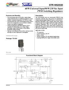 90 W-230 Vac Input PWM Switching Regulators
