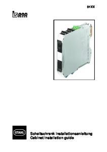 91XX. Schaltschrank Installationsanleitung Cabinet installation guide