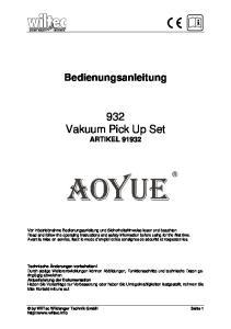 932 Vakuum Pick Up Set ARTIKEL 91932