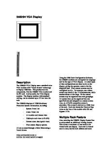 94 VGA Display. Description. Multiple Rack Feature