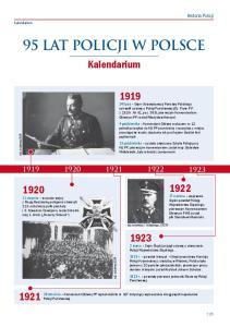95 lat Policji w Polsce