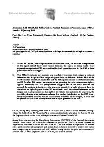 952 Ashley Cole v. Football Association Premier League (FAPL), award of 24 January 2006