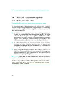 9.6 Kirche und Staat in der Gegenwart