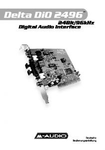 96kHz. Digital Audio Interface. Deutsche Bedienungsanleitung