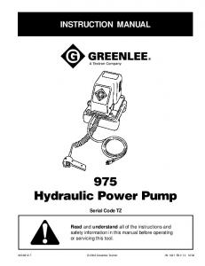 975 Hydraulic Power Pump