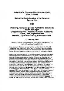 98) Before the Court of Justice of the European Communities ECJ