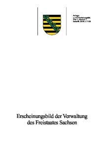 99, S Erscheinungsbild der Verwaltung des Freistaates Sachsen