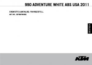 990 ADVENTURE WHITE ABS USA 2011