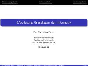 9.Vorlesung Grundlagen der Informatik