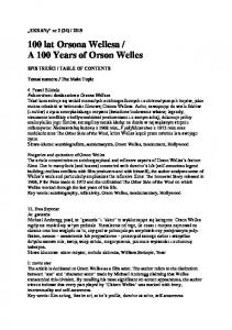 A 100 Years of Orson Welles