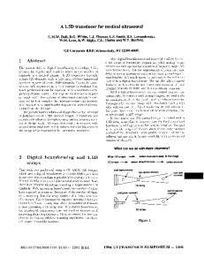 A 1.5D transducer for medical ultrasound