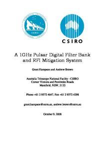 A 1GHz Pulsar Digital Filter Bank and RFI Mitigation System