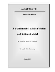 A 2-Dimensional Rainfall-Runoff. and Sediment Model
