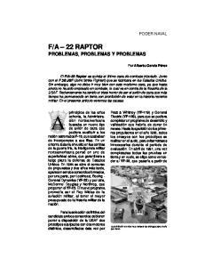 A 22 RAPTOR PROBLEMAS, PROBLEMAS Y PROBLEMAS