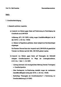 a) Anspruch von Meister gegen Sester auf Zustimmung zur Berichtigung des Grundbuchs aus 894 BGB