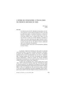 A APORIA DO CONSELHEIRO: O FIM DA LINHA DO CRONISTA MACHADO DE ASSIS