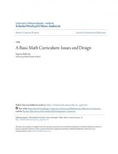 A Basic Math Curriculum: Issues and Design