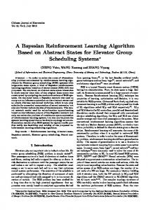 A Bayesian Reinforcement Learning Algorithm Based on Abstract States for Elevator Group Scheduling Systems