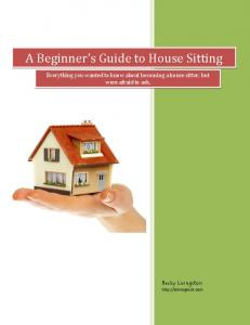 A Beginner s Guide to House Sitting