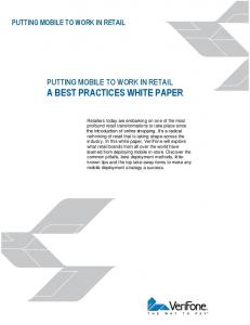 A BEST PRACTICES WHITE PAPER