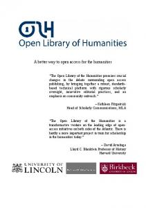 A better way to open access for the humanities