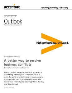 A better way to resolve business conflicts