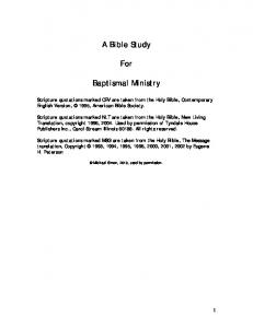 A Bible Study. For. Baptismal Ministry
