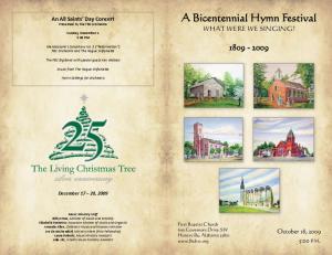 A Bicentennial Hymn Festival
