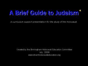 A Brief Guide to Judaism