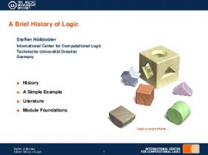 A Brief History of Logic