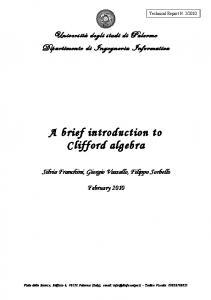 A brief introduction to Clifford algebra