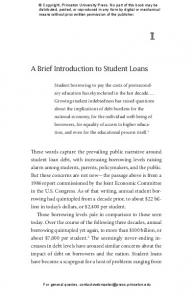 A Brief Introduction to Student Loans