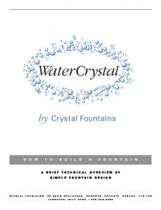 A BRIEF TECHNICAL OVERVIEW OF SIMPLE FOUNTAIN DESIGN
