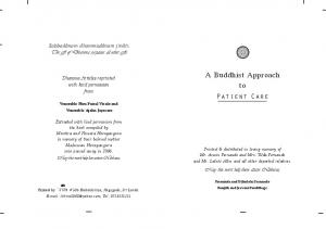 A Buddhist Approach to