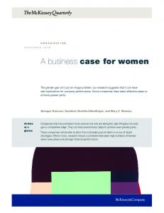 A business case for women