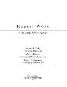A Business Ethics Reader