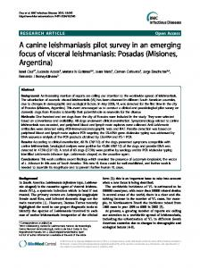 A canine leishmaniasis pilot survey in an emerging focus of visceral leishmaniasis: Posadas (Misiones, Argentina)