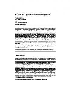 A Case for Dynamic View Management
