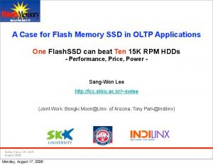 A Case for Flash Memory SSD in OLTP Applications