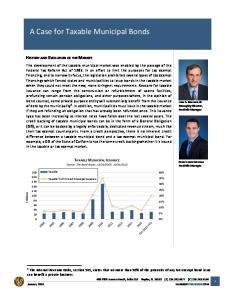 A Case for Taxable Municipal Bonds