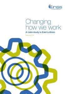 A case study in East Lothian November 2013