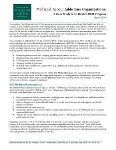 A Case Study with Boston HCH Program