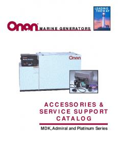 A CCESSORIES & SERVICE SUPPORT CATALOG
