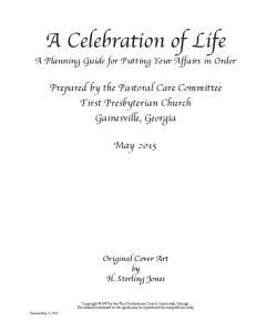 A Celebration of Life