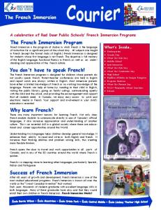 A celebration of Red Deer Public Schools French Immersion Programs