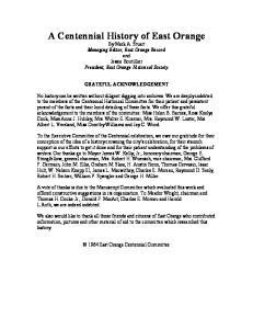 A Centennial History of East Orange