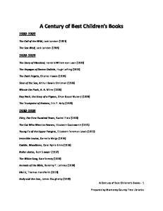 A Century of Best Children s Books