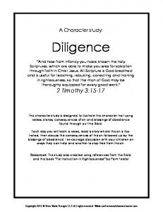 A Character study: Diligence