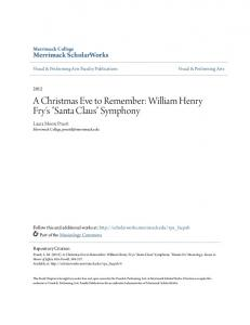A Christmas Eve to Remember: William Henry Fry's