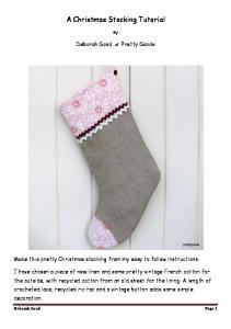 A Christmas Stocking Tutorial